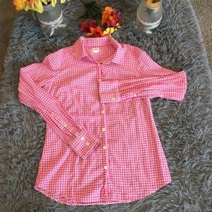 J.Crew The Perfect Fit Gingham Plaid Shirt Size XS